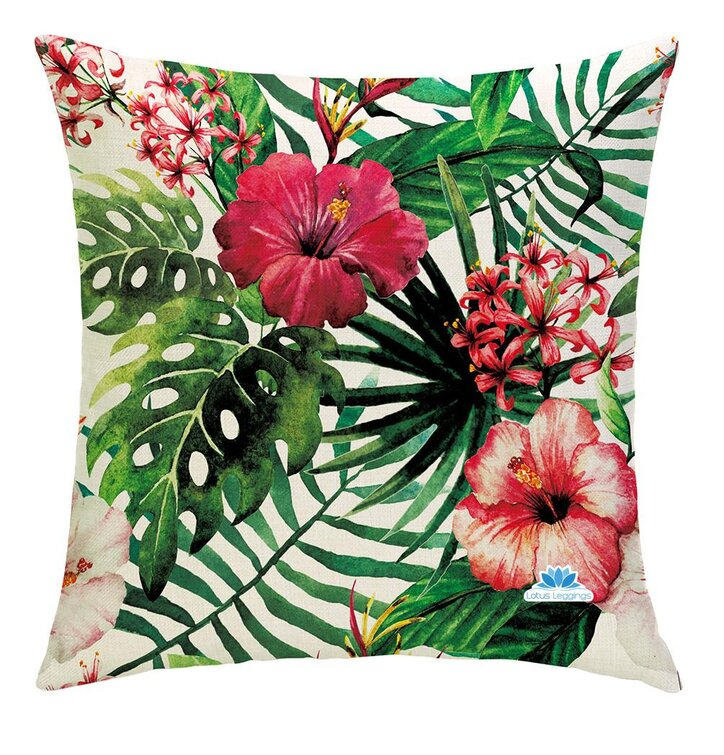 Jednostranná obliečka na vankúš Tropické kvety