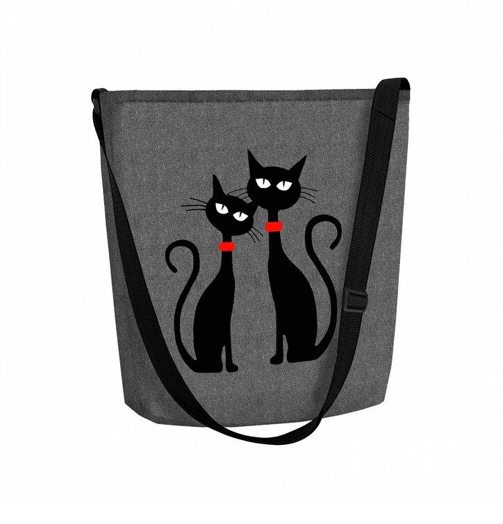 ee7b625cd87 Výjimečný dárek od Dedoles Kabelka přes rameno Dvě kočky