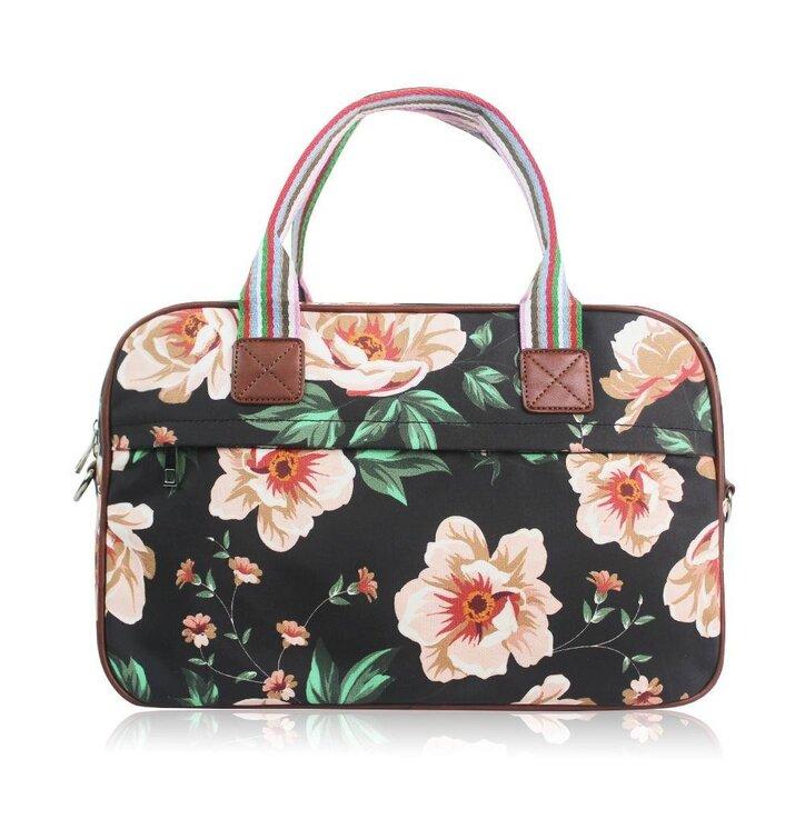 Veľká cestovná taška Black floral