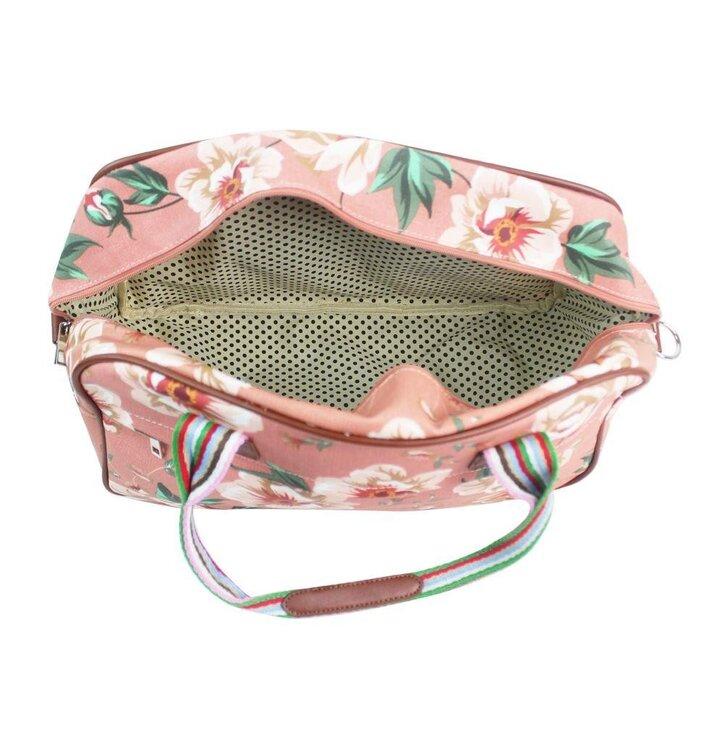 05dc8848ff2a Szerezzen magának örömet ezzel a Dedoles darabbal Nagy utazótáska Pink  floral