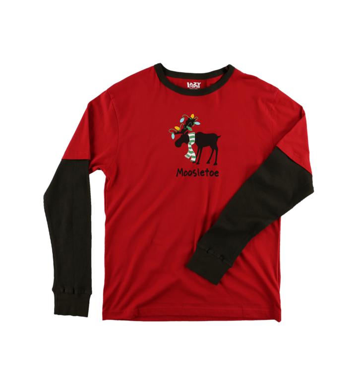 ce2e75b5e136 Lifestyle foto Pánske tričko na spanie s dlhým rukávom Vianočný sobík