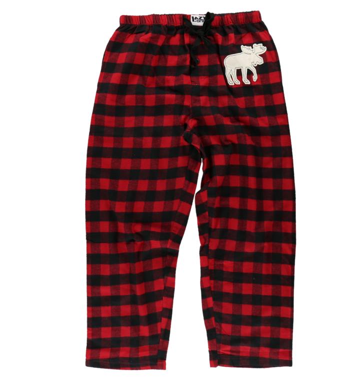 2cdfe41da813 Lifestyle foto Pánské pyžamové kalhoty Červeno-černé čtverečky