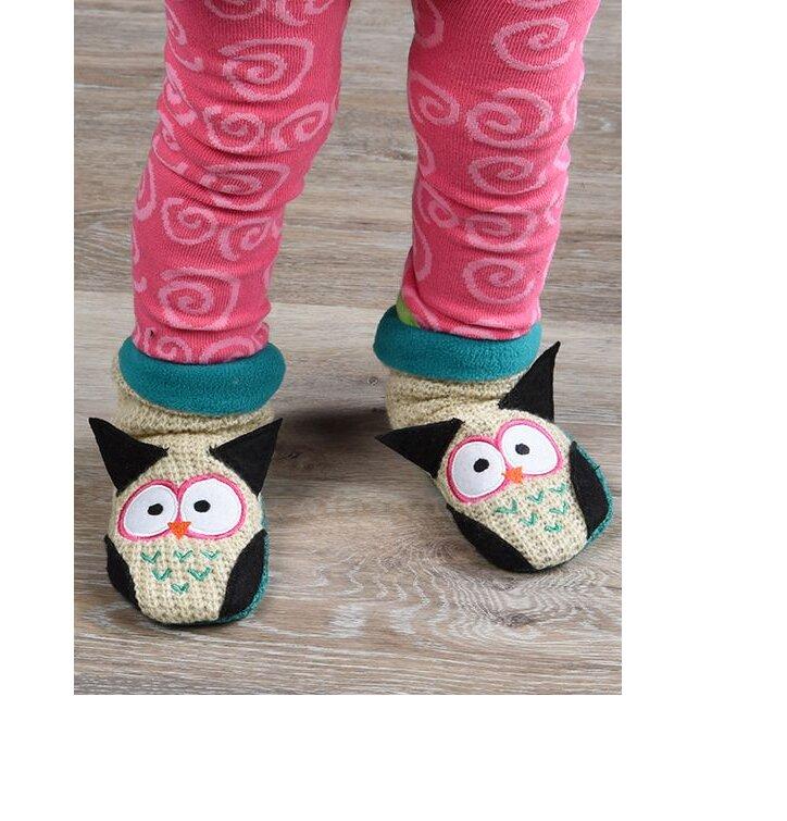 10ea77f43a Výpredaj Teplé flisové papuče Sova