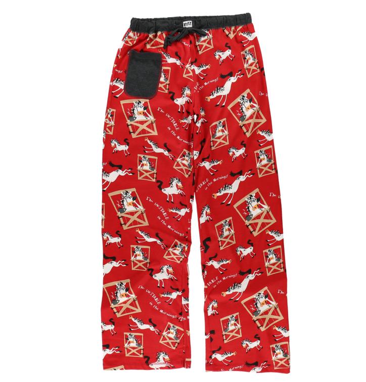 Dámske pyžamové nohavice Kôň po prebudení