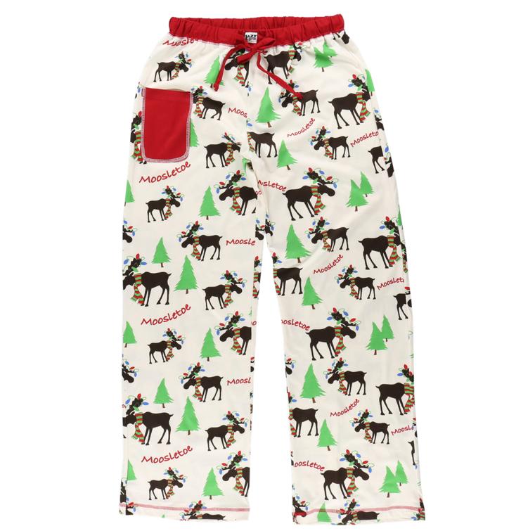 cb37cbd1ecda Tip na darček Dámske pyžamové nohavice Vianočný sobík