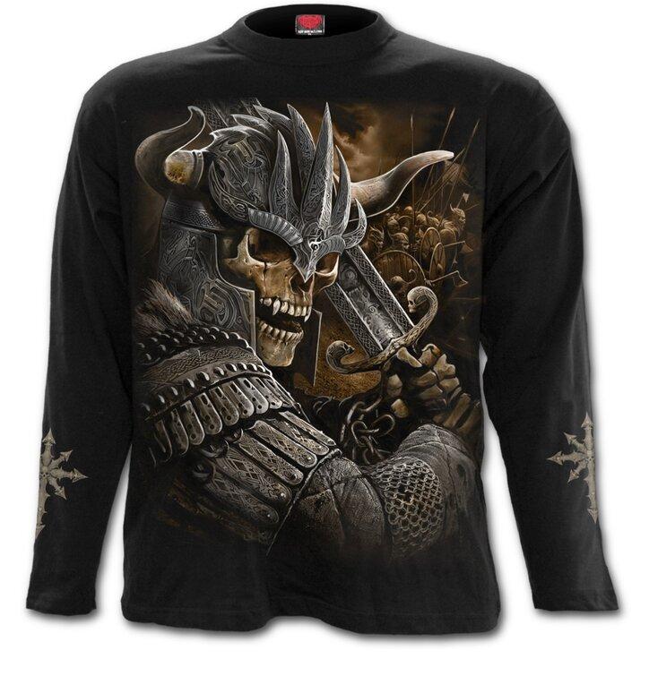 Tričko s dlhým rukávom Vikingský bojovník