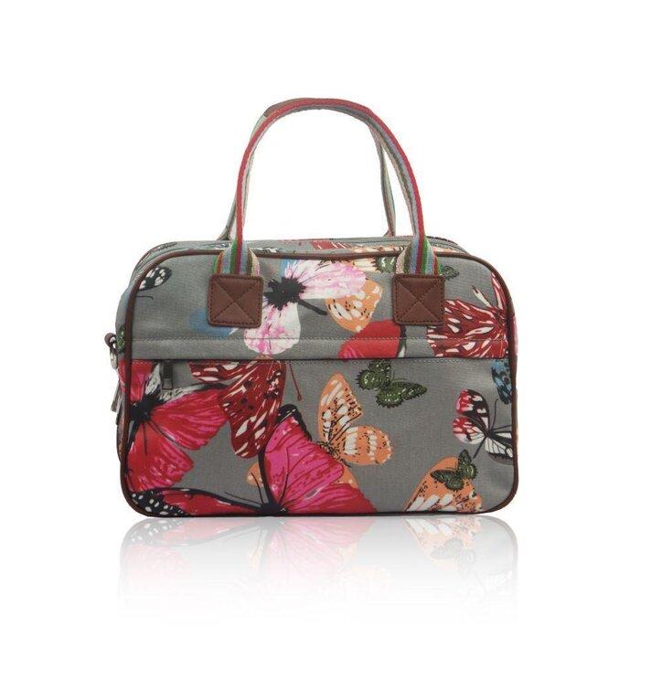 ed3b08e90 Malá šedá cestovná taška Veľké motýle | Dedoles
