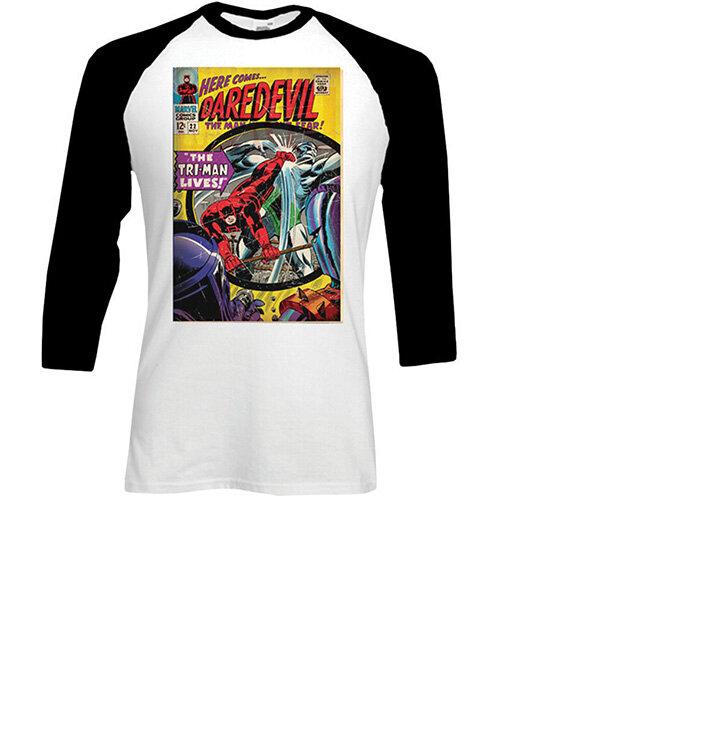 d304128f06 Tričko s trojštvrťovým rukávom Marvel Comics Dare-devil Comic   Dedoles
