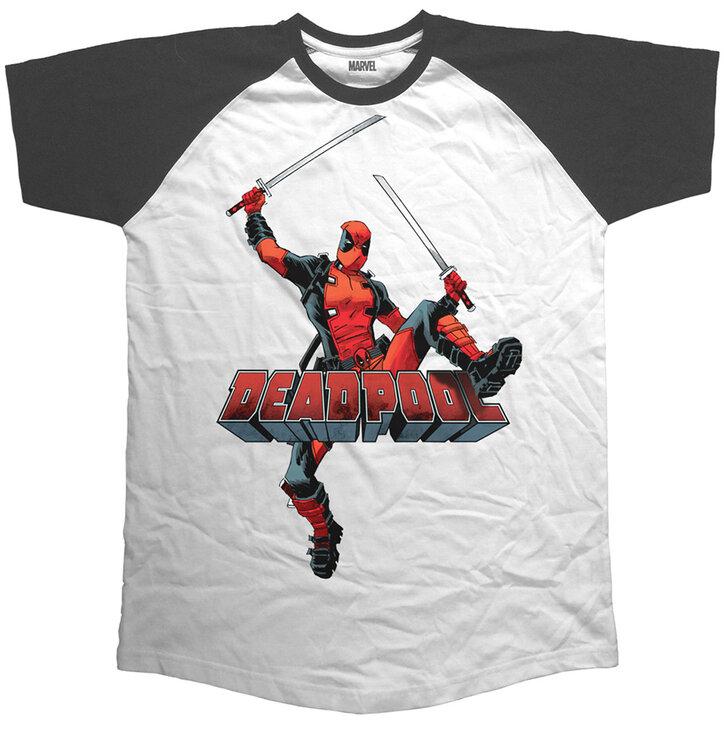 c7558ba89 Potěšte se tímto kouskem Dedoles Tričko Marvel Comics Deadpool Logo Jump