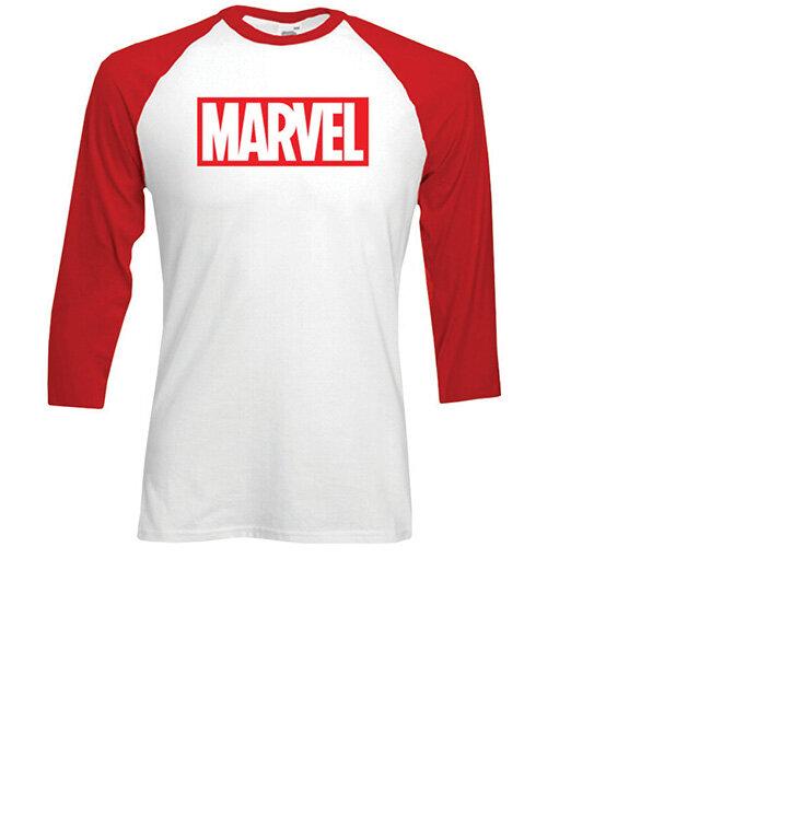 Tričko s trojštvrťovým rukávom Marvel Comics Marvel Logo