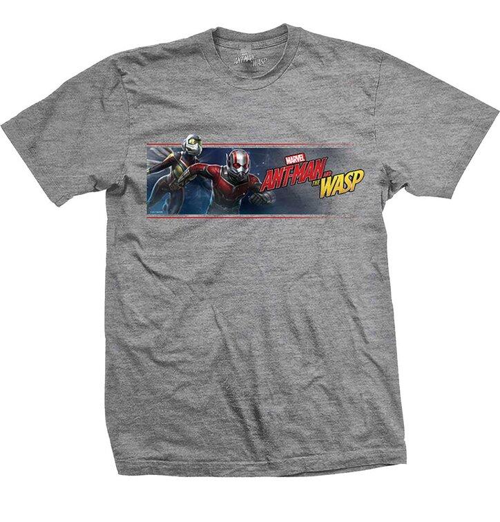 Tmavošedé Tričko Marvel Comics Ant Man & The Wasp Banner