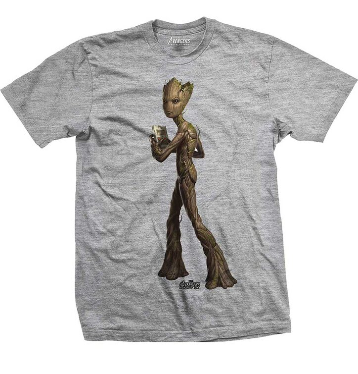 T-Shirt Marvel Comics Avengers Infinity War Teen Groot Colour