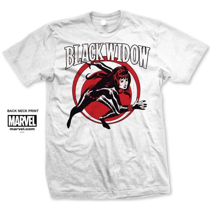 Tričko Marvel Comics Black Widow Simple