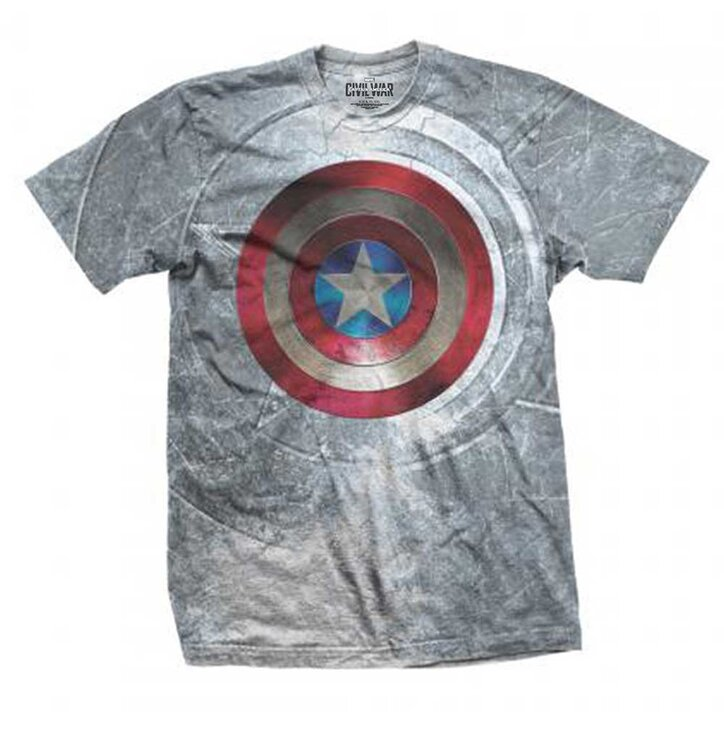 Tricou Marvel Comics Captain America Civil War Shield