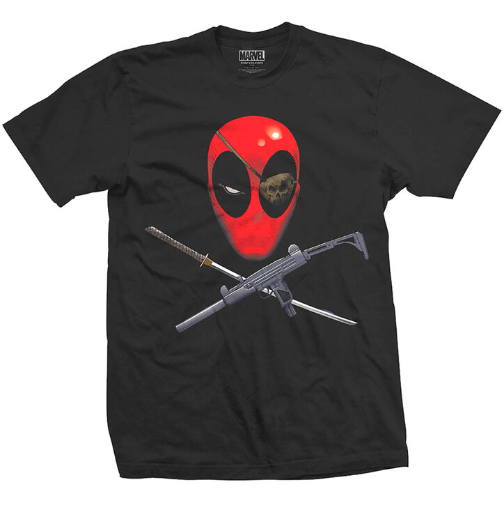 Tričko Marvel Comics Deadpool Crossbones