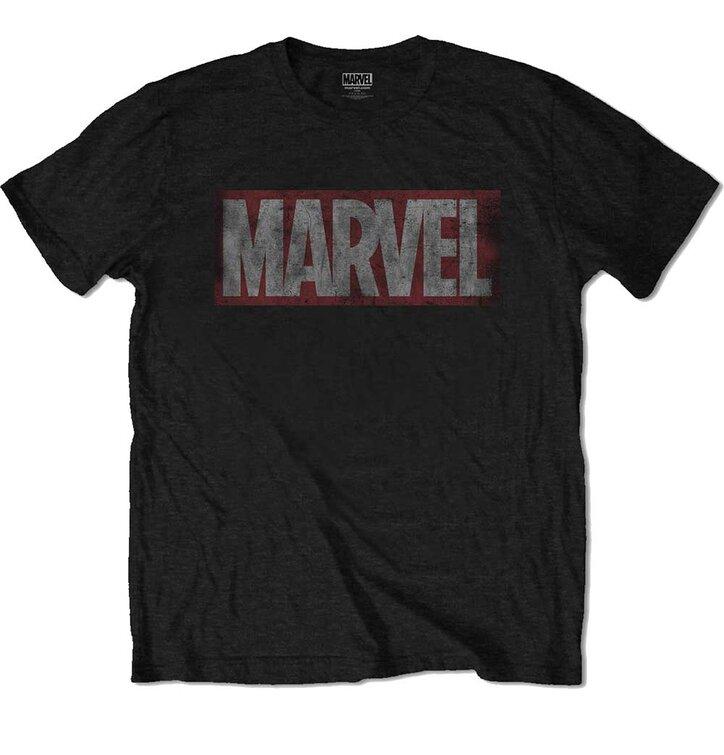 Tričko Marvel Comics Distressed Box Logo