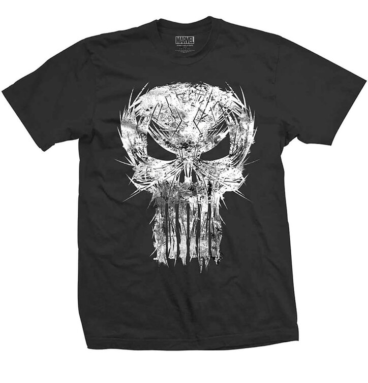 Tričko Marvel Comics Punisher Skull Spiked