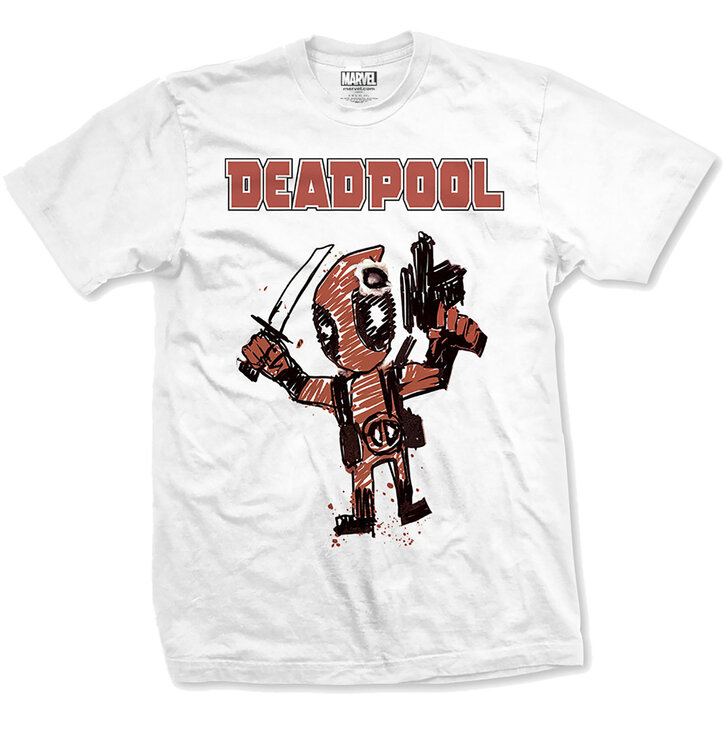 Tričko Marvel Comics Tee Deadpool Cartoon Bullet