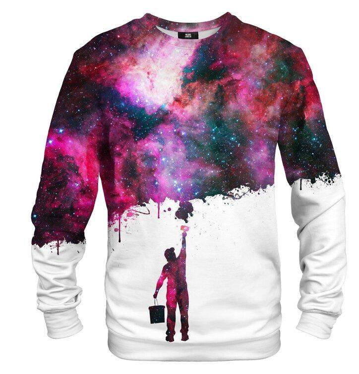 Výprodej Mikina bez kapuce Namaluj mi galaxii 476232c88a