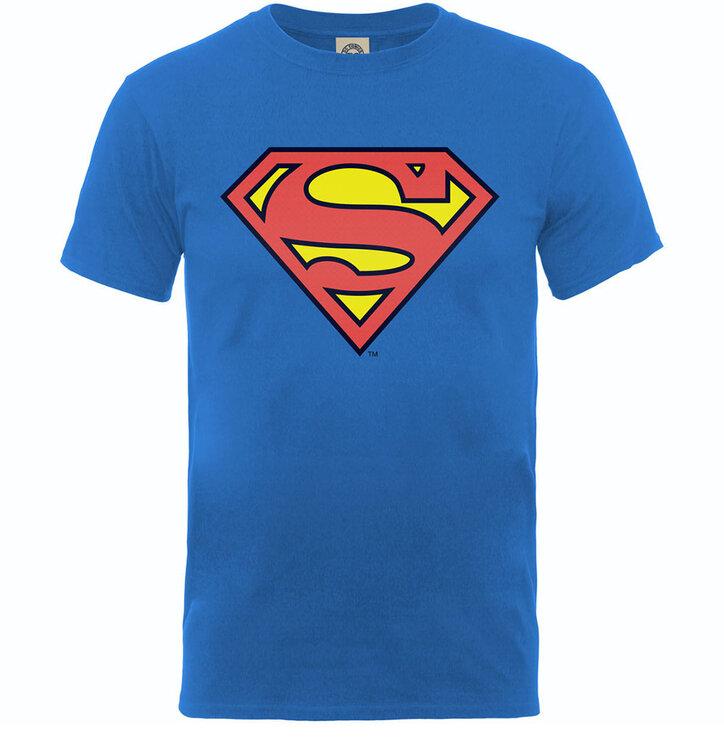 Výnimočný darček od Dedoles Modré detské tričko DC Comics Superman Shield 87d1b3880b