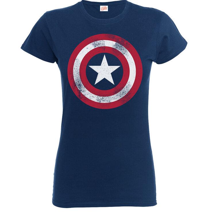 Potěšte se tímto kouskem Dedoles Modré detské tričko Captain America  Distressed Shield 76fb279082