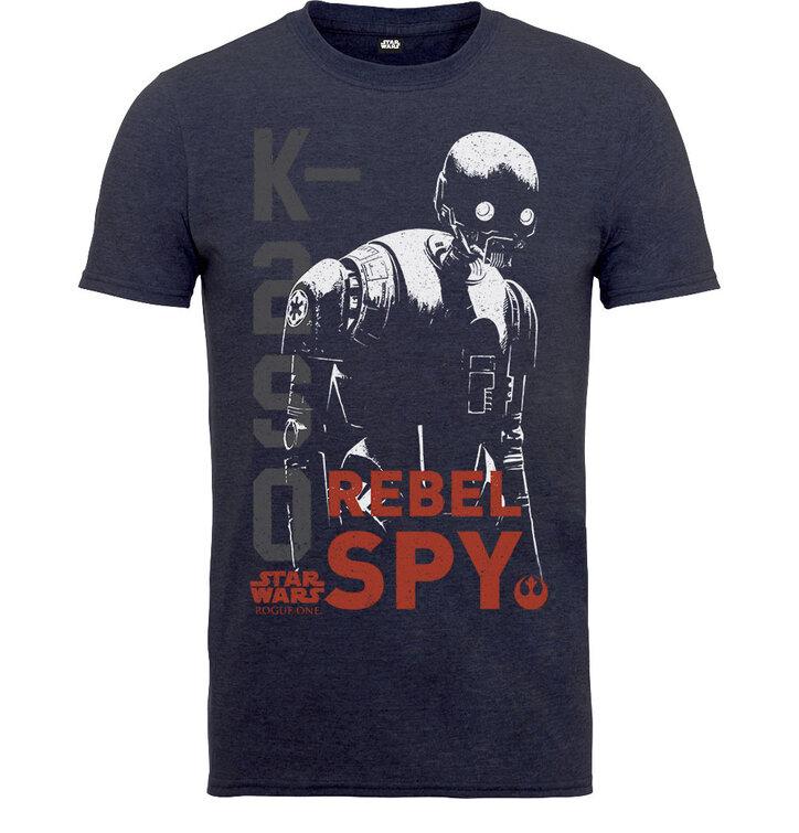 Modré detské tričko Rogue One K2SO Rebel Spy