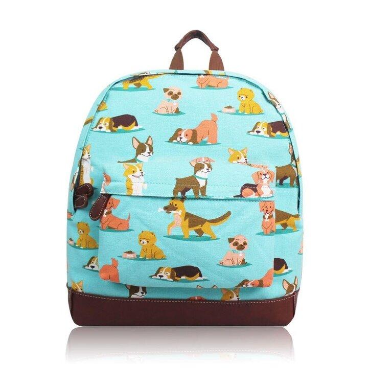 Modrý ruksak Psíky