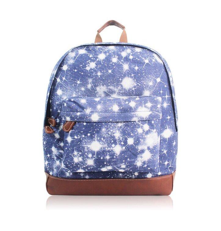 Modrý ruksak s jedným vreckom Hviezdna obloha