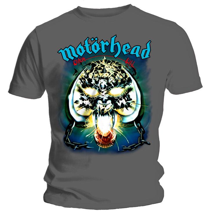 Tmavošedé Tričko Motorhead Overkill