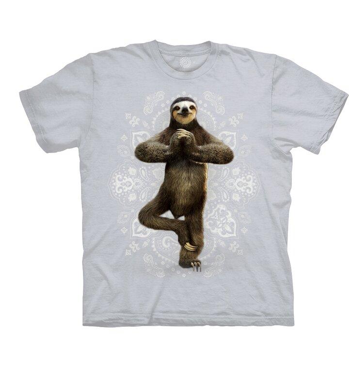 Béžové tričko leňochod Namaste