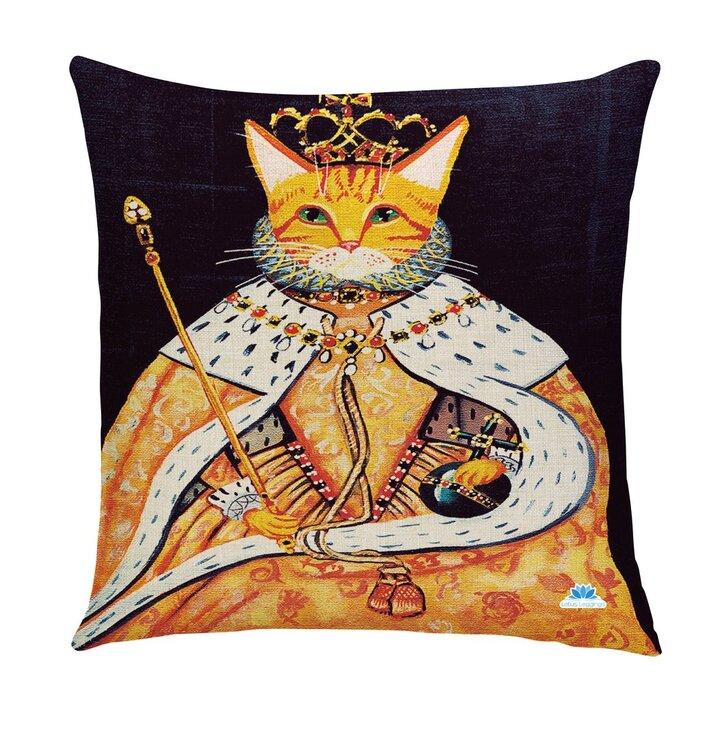 Obojstranná obliečka na vankúš Kráľovská mačka