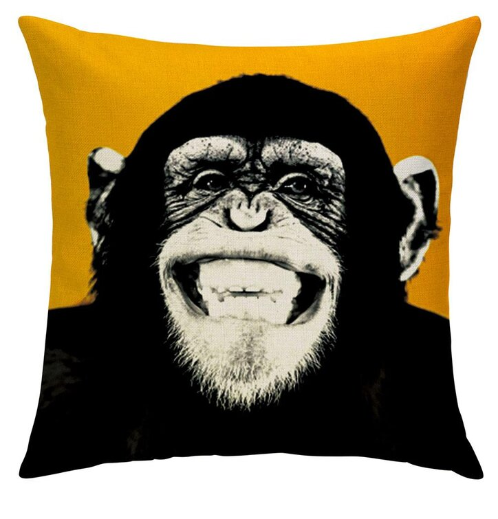 Obojstranná obliečka na vankúš Opičí výsmech
