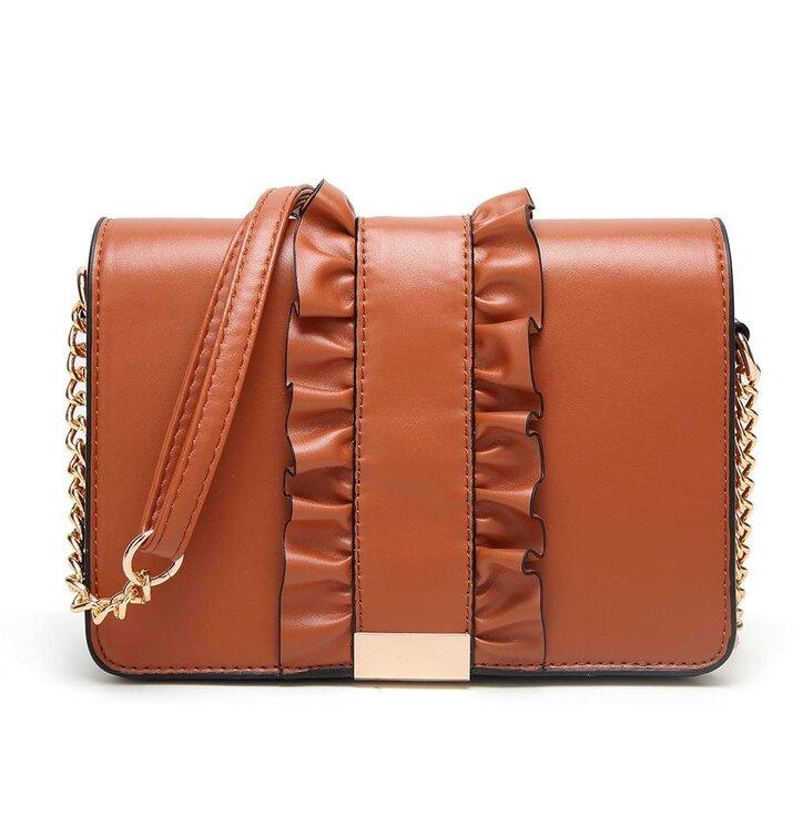 84bac09508 Oranžová kabelka s volánom Florence