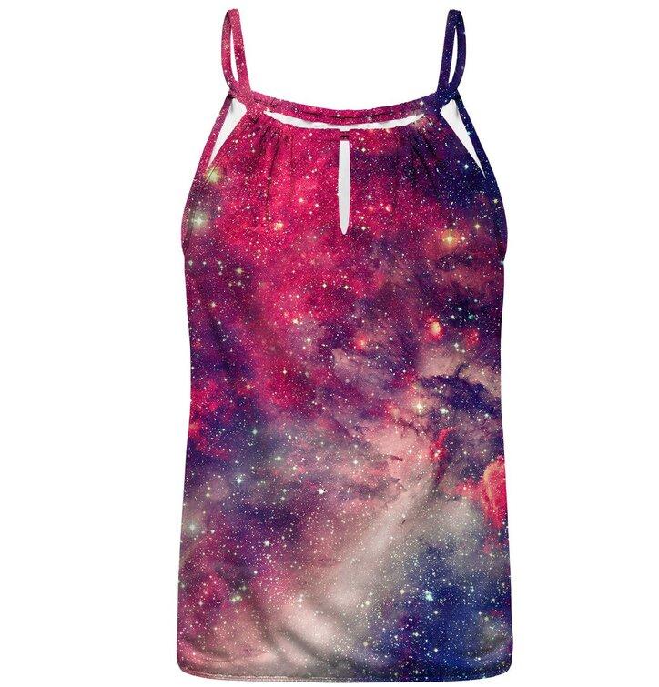 Hledáte originální a neobvyklý dárek  Obdarovaného zaručeně překvapí Plavky  tankini vrchní díl Fialová galaxie 117577b369
