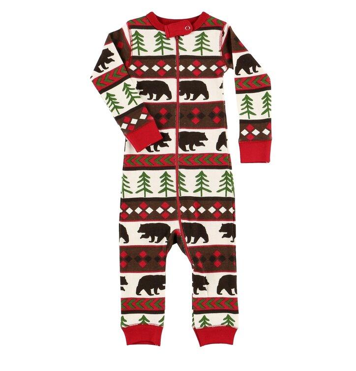 a3cc7c9f83 Csecsemő pizsama overál Vadászó medve | Dedoles