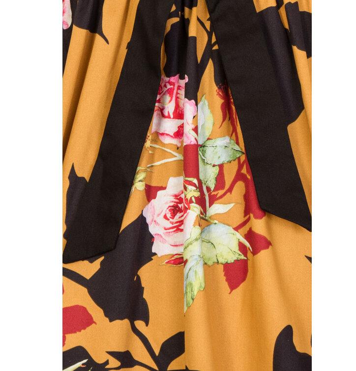 a04a5b283f3 Výjimečný dárek od Dedoles Retro pin up šaty Divoká růže