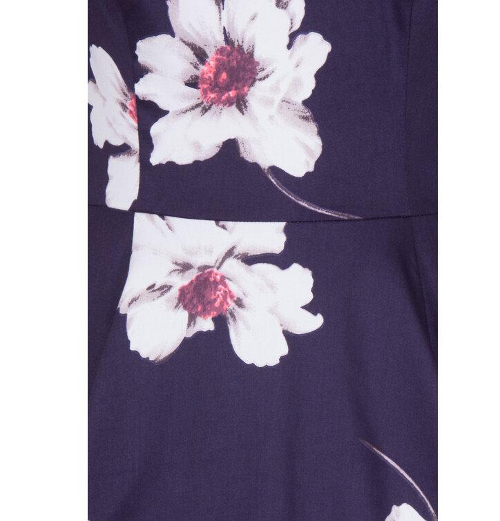 1657c6ed4c1 Výjimečný dárek od Dedoles Retro pin up šaty s rukávem Bílé květy