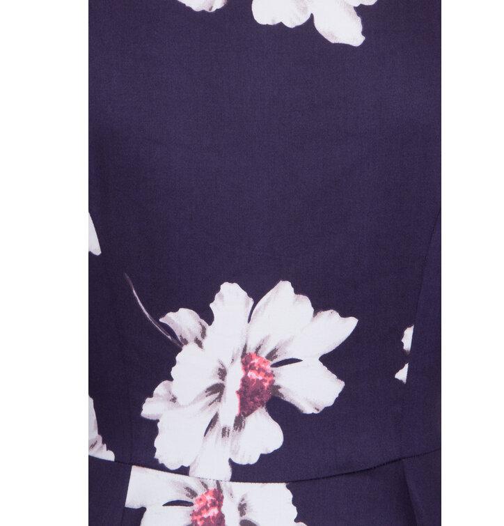 13e5a75d230 Výprodej Retro pin up šaty s rukávem Bílé květy