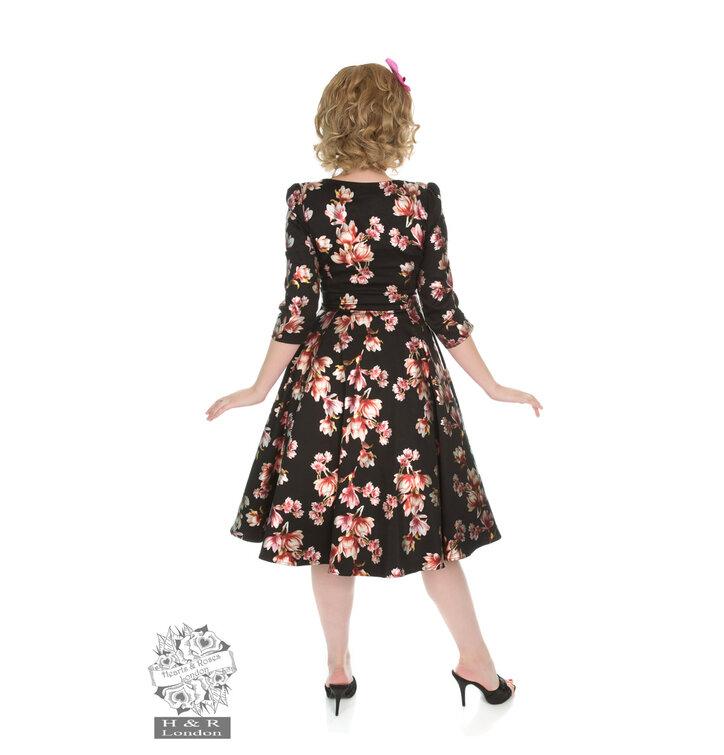 b9d4e2dcce22 Tip na dárek Retro pin up šaty s rukávem Magnólia