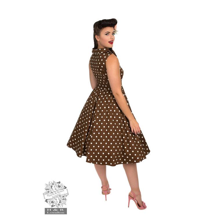 9fa8795eea03 Tip na dárek Retro pin up šaty Bílé tečky