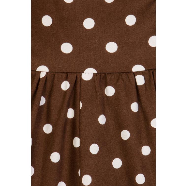 6ae04d2bdd58 Výjimečný dárek od Dedoles Retro pin up šaty Bílé tečky