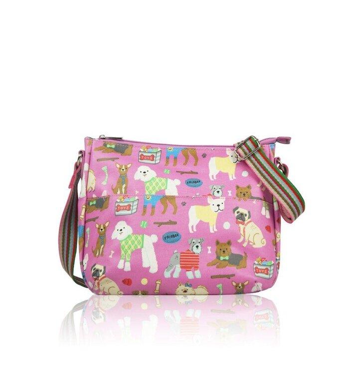 Hľadáte originálny a nezvyčajný darček  Obdarovaného zaručene prekvapí Ružová  dámska kabelka Psie plemená 0b4789b43ba