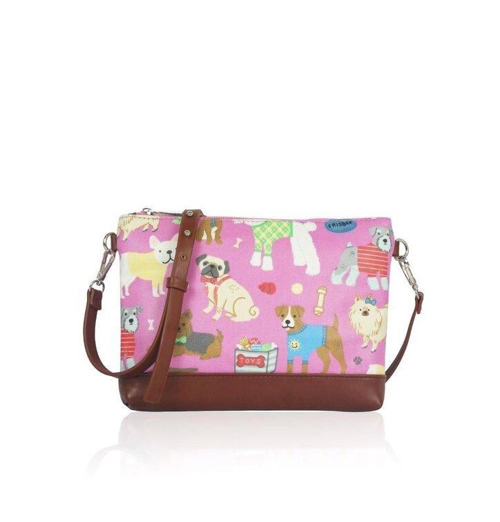 5a1f994d02 Ružová dámska mini kabelka Psie plemená
