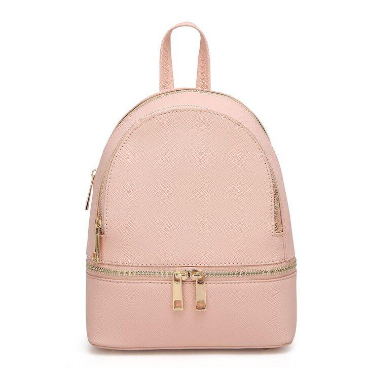 3dbf85dd31 Ružový ruksak z PU kože Fifi