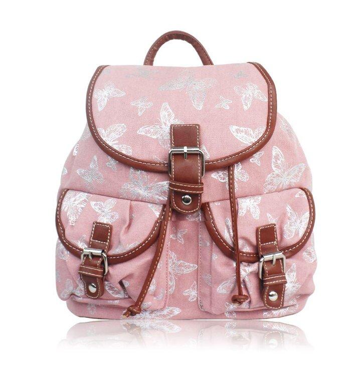 fac1a074b93c Eredeti ajándék a Dedolestől Rózsaszín hátizsák Ezüst pillangók