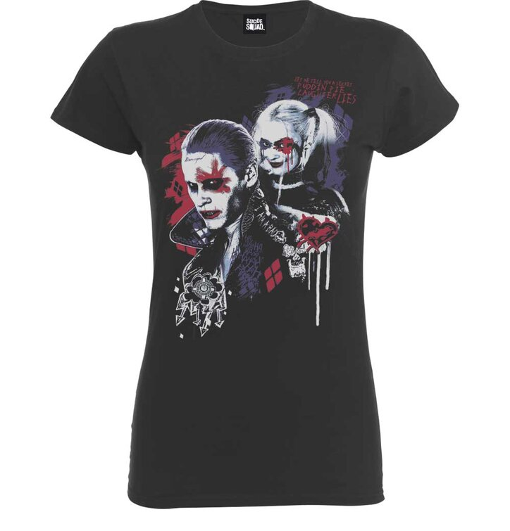 Damen T-Shirt Grau DC Comics Suicide Squad Harley's Puddin