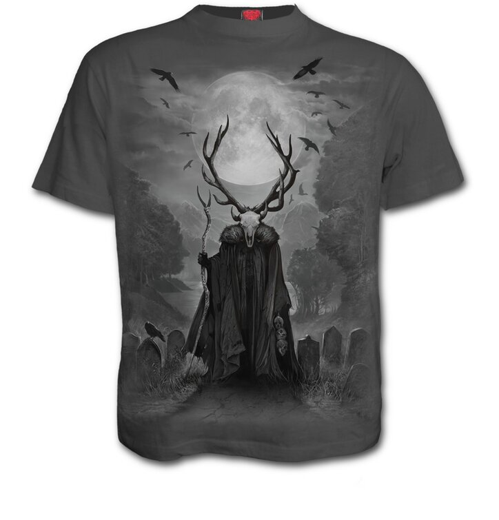 Šedé tričko Duša jeleňa