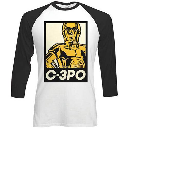 Tričko s trojštvrťovým rukávom Star Wars Classic C3PO Block