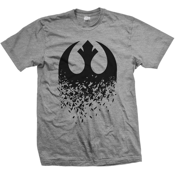 T-Shirt Star Wars Episode VIII Rebel Logo Splintered