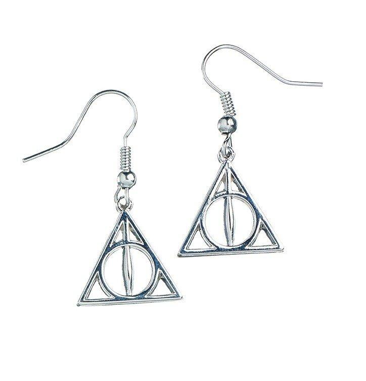 30d8229a410 Sleva Stříbrné naušnice Harry Potter Relikvie smrti